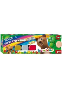 Farby plakatowe 12 kolorów 20ml BAMBINO