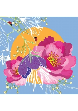 Karnet Swarovski kwadrat CL0708 Kwiaty
