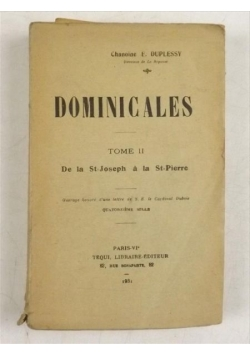 Dominicales, tome II, 1931 r.