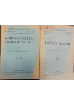 Warunki częstej Komunji Świętej/O miłości ojczyzny, 1925 r.