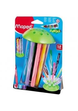 Flamastry Colorpeps Jungle 12 kolorów MAPED