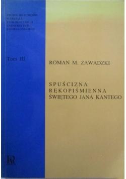 Spuścizna rękopiśmienna świętego Jana Kantego