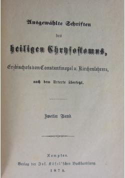 Ausgewahlte Schriften, Zweiter Band, 1874 r.
