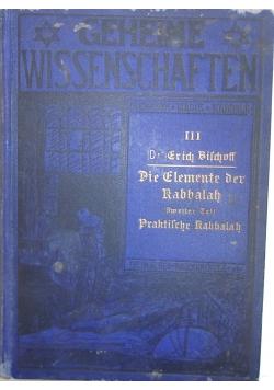 Die elemente der rabbalah, 1914r.