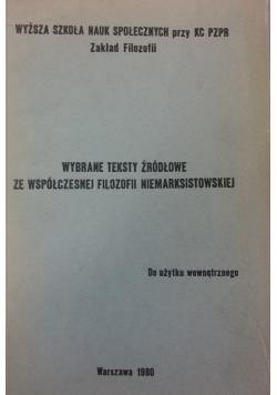 Wybrane teksty źródłowe ze współczesnej filozofii marksistowskiej