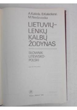 Lietuviu lenku kalbu zodynas. Słownik litesko-polski