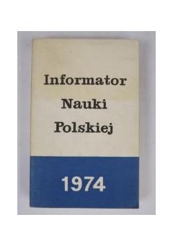 Informator Nauki Polskiej 1974