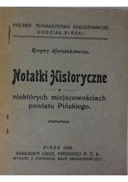 Notatki Historyczne,1928r