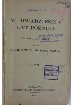 W dwadzieścia lat później, tom IV, 1925 r.