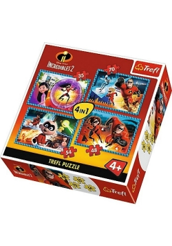 Puzzle 4w1 Niesamowita rodzinka TREFL