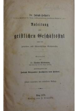 Unleitung geistlichen beschaftsnl, 1879 r.