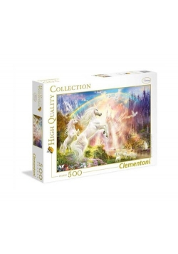 Puzzle High Quality Collection Sunset Unicorns 500
