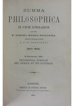 Summa Philosophica, 1880r.