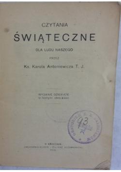 Czytania świąteczne, 1918 r.
