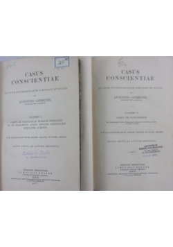 Lehmkuhl casus conscientiae vol I,II, 1907 r.