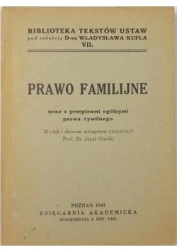 Prawo familijne, 1947 r.