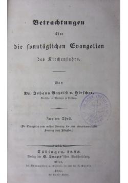 Betrachtungen uber die sonntaglichen Guangelien, 1843 r.