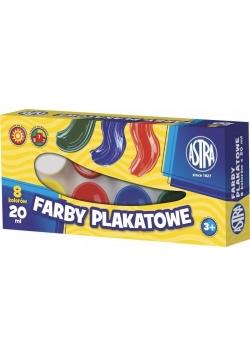 Farby Plakatowe 8 kolorów 20ml ASTRA