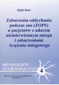 Zaburzenia oddychania podczas snu (ZOPS) u pacjentów z udarem niedokrwiennym mózgu i zaburzeniami krążenia mózgowego
