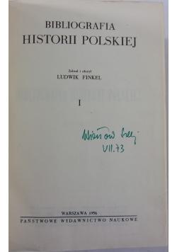Bibliografia Historyi Polskiej,Reprint z 1891 r.