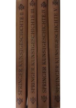 Handbuch der Kunstgeschichte, zestaw 4 książek