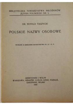 Polskie nazwy osobowe, 1924 r.
