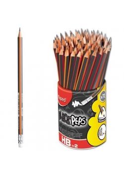 Ołówek z gumką Blackpeps HB w kubku (72szt) MAPED