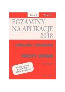 Egazminy na aplikacje 2018 Radcowska i adwok. T.1
