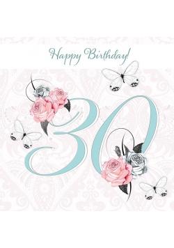 Karnet Swarovski kwadrat CL1630 Urodziny 30