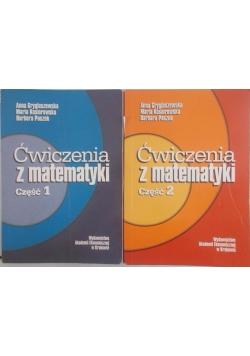 Ćwiczenia z matematyki cz. I, II