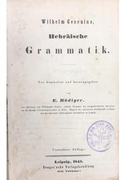 Hebraische Grammatik, 1845 r.