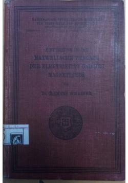 Maxwellsche theorie der..., 1908 r.