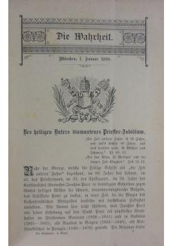 Die Wahrheit, Band 4, 1898 r.