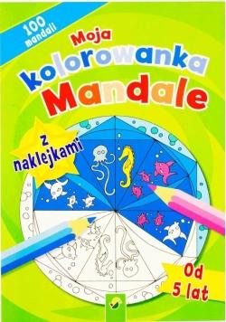 Moja kolorowanka z naklejkami - Mandale