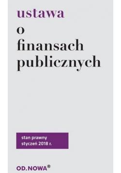 Ustawa o finansach publicznych 01.01.2018