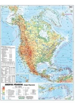Ameryka PN 1:18 000 000 mapa pol.i fiz. ścienna