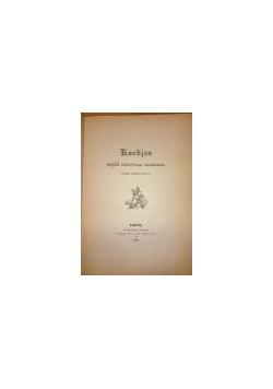 Kordjan cz. I ,reprint z 1834 r.