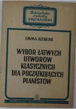Wybór łatwych utworów klasycznych dla początkujących pianistów, 1946r