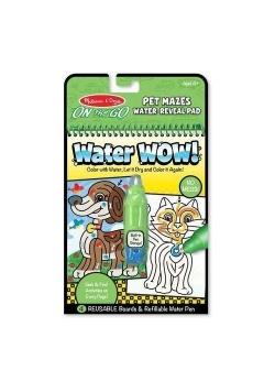 Kolorowanka wodna Zwierzakowe labirynty