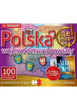 Puzzle: Polska-województwa i powiaty+atlas