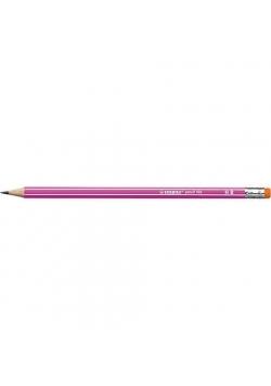 Ołówek 160 z gumką HB różowy (12szt) STABILO