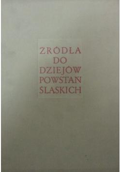 Źródła do dziejów powstań śląskich