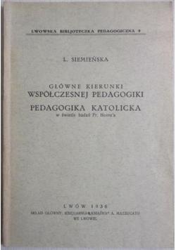 Główne kierunki współczesnej pedagogiki, 1936 r.