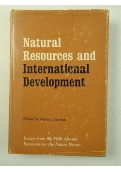 Natural Resources And International Development