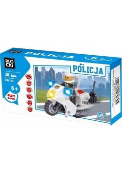 Klocki Blocki Policja Motocykl