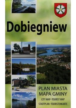Dobiegniew Plan miasta Mapa gminy