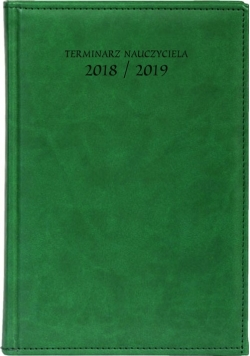 Terminarz nauczyciela A5 2018/2019 zieleń Vivella