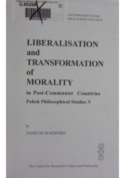 Liberalistaion and trasformation of morality