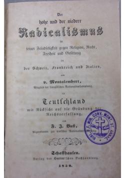 Der hohe und der niedere radicalismus, 1850 r.