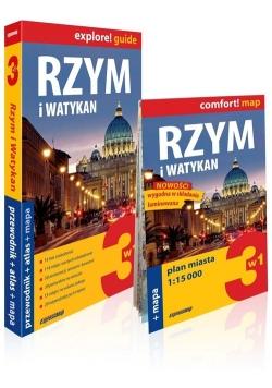 Rzym i Watykan explore! Guide 3w1: przewodnik + atlas + mapa